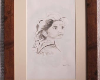 Young Girl - Original Painted in Watercolour by Gwen Blyth