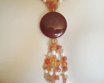Red Agate Necklace, boho jewelry gypsy jewelry hippie jewelry bohemian jewelry hippie necklace new age boho necklace bohemian necklace
