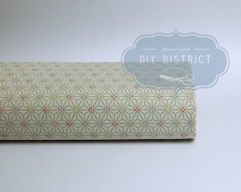 Japanese traditional Asanoha beige fabric.