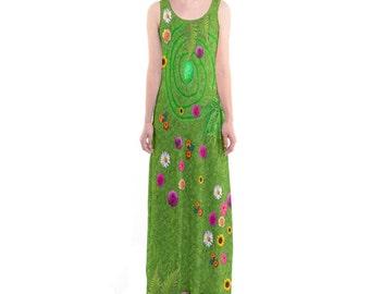 Te Fiti Moana Inspired Sleeveless Maxi Dress