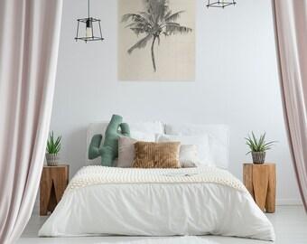 Vintage Palm Tree Mural | Mureus