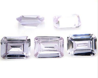Cubic Zirconia Lavender Octagon AAA Wholesale Lot Loose Stones (6x4mm - 18x13mm)