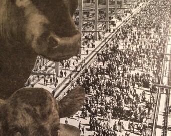 Cattle Call an original OOAK altered art collage