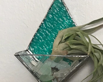 Stained glass Air plant wall planter