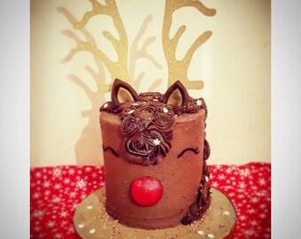 Reindeer antler cake toppers