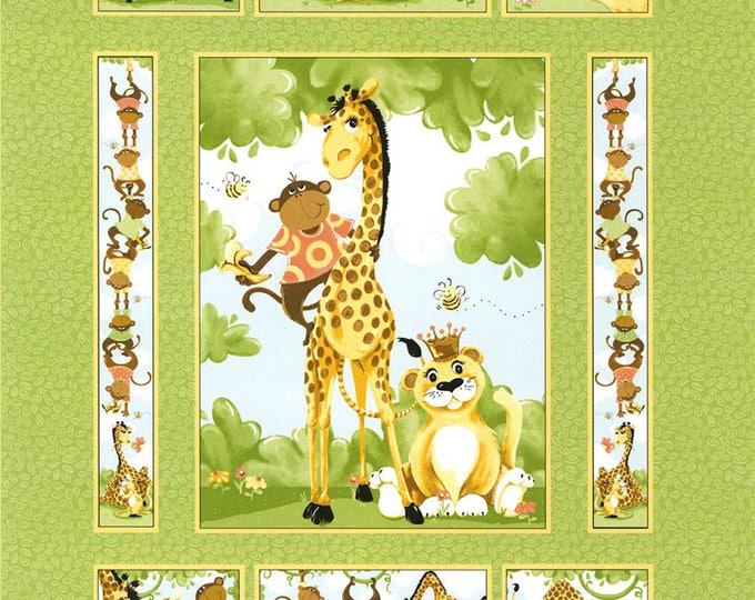 SUSYBEE BUDDIES QUILT, Children's Quilt Fabric Panel 36 x 43 inches