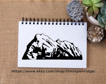 Mount Rundle clipart, Banff Canada, Banff National Park art, mountain art, mountain clip art, rocky mountains, mountain illustration