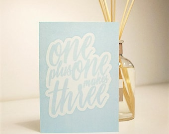 Baby shower cards - blue, pink or green