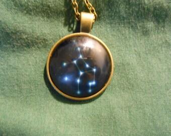 Zodiac star Virgo necklace