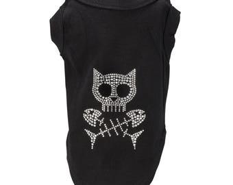 Cat Skull and Fishbones t-shirt