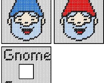 Gnome Tissue Box Cover Plastic Canvas Pattern