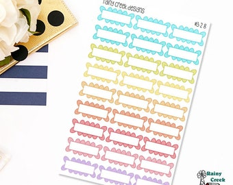 Scalloped Planner Stickers for Erin Condren, Plum Paper, Happy Planner and Recollection Planners #328