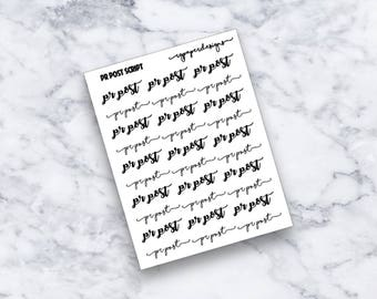 PR Post | Script | Planner Stickers