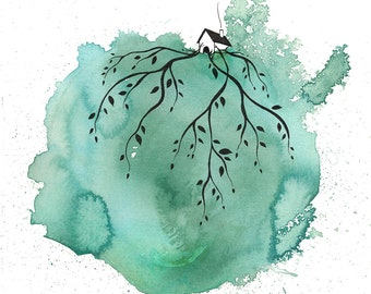 putting down roots - print