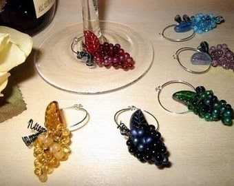 Bunch of Grapes Wine Charms