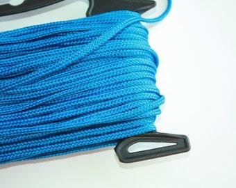 5 mm Flat Braided Cord POLYESTER = 1 Spool = 27 Yards = 25 Meters Elegant Decorative Rope Macrame Rope Macrame Cord Nautical Theme Blue Rope