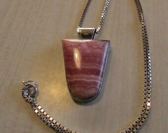 Sterling Silver and Rhodochrosite Necklace