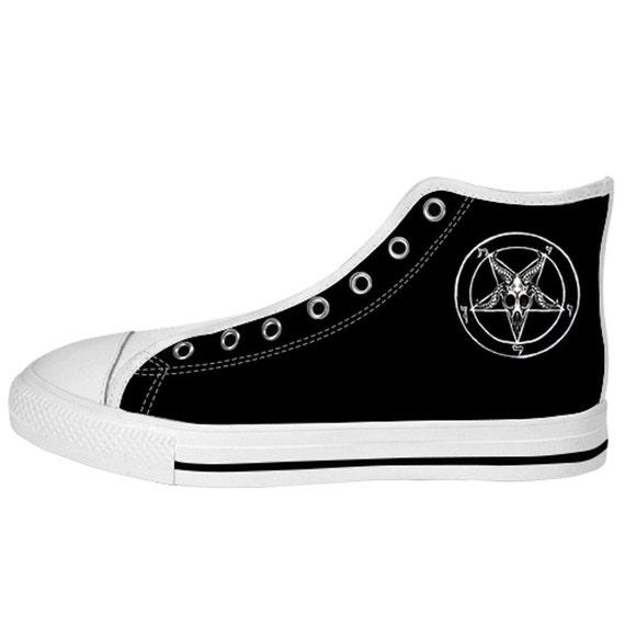 Baphomet Pentagram Gents High top shoes