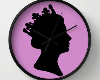 LILIBET IN LILAC Clock