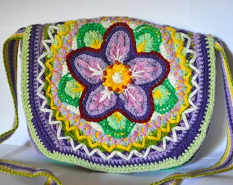 Knitted boho Handbag / Shoulder Bag eco-friendly