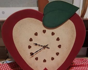 Large Apple Custom Wall Clock