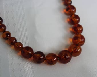 Vintage Rootbeer Lucite Necklace
