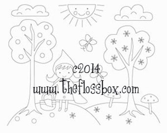 Little Red Riding Hood Embroidery Pattern