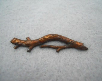 Vintage Brass Tree Branch Stamping