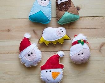 Felt Christmas ornaments,PDF sewing pattern BUNDLE almost 60% OFF
