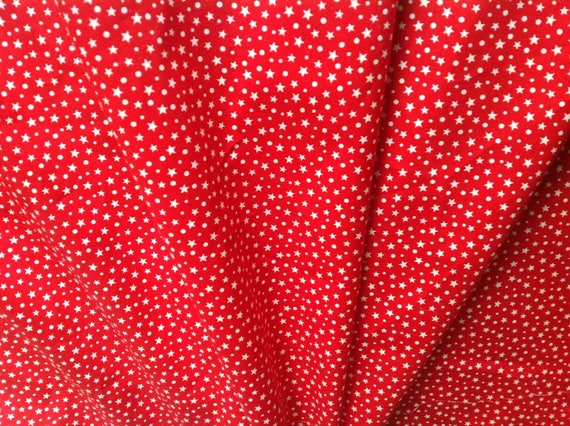 High quality cotton poplin, hearts on red