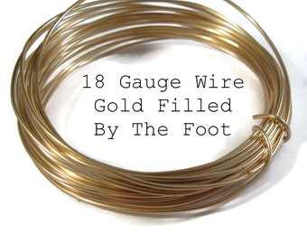 18 Gauge Wire, Gold Filled Wire, By The Foot, Round, Soft Wire for Wire Wrapping Jewelry, Gemstones and Beads
