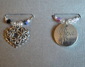 two love wine charms