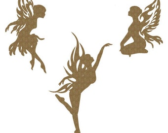 Fairies Set of 3 Laser Cut Chipboard FREE SHIPPING! in US