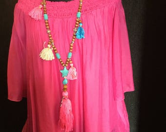 Ladies Stunning Silk Tunic one size