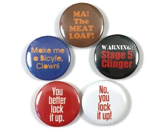 Wedding Crashers Movie Fan Art 5 - 1 Inch Button Pin Set