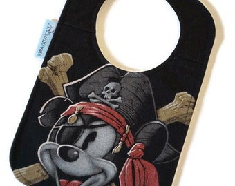 Mickey Pirate Upcycled T-shirt Bib