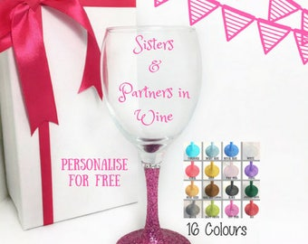 Gifts for sister birthday, sister wine glass funny, best sister ever, funny gift for her, sister birthday gift, sister gift ideas,