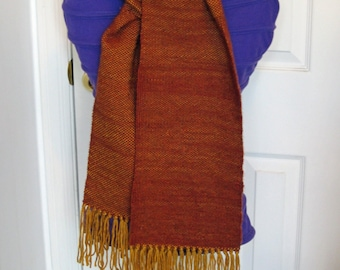Gold in the Hills - Handwoven Warm Scarf