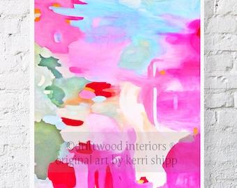 Abstract Watercolor Art Print 'Equinox Rising' 8x10 - Abstract Art - Bright Modern Abstract Print