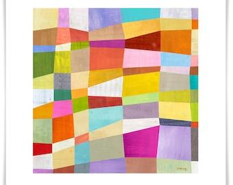 Abstract Blocks, Modern Art Print, Geometric Design, Contemporary Home Decor, Modern Nursery Decor