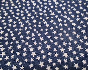 Vintage Cotton Fabric -  Navy Blue With Small Stars