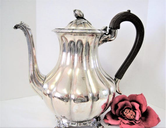 Silverplate Rogers Coffee Pot, 1881 Canada Coffeepot, Elegant Display Piece - Vintage Serving Pot