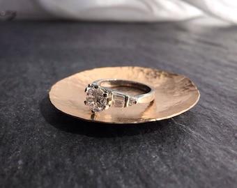 Ring Dish - Hammered Bronze Dish - Ring Dish Personalized - Wedding Ring Dish - Wedding Ring Holder - Incense Dish
