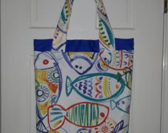 Beach Fish Tote Bag