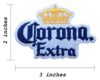 Corona Extra Beer Logo Embroidered Iron 1 Patch.