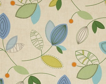 Calder Ocean, Magnolia Home Fashions - Cotton Upholstery Fabric By The Yard