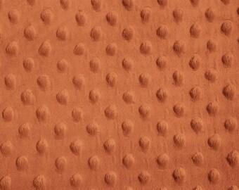 Orange Orange Minky Dot Fabric, Sold by The Yard