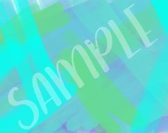 Aqua, blue and green brush strokes - Background 2