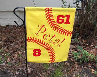 Softball Garden Flag