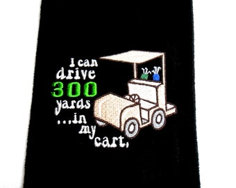 Golf towel, funny golf towel, golf gift, embroidered towel, gift for him, golf gift for her, golfer gift, personalized golf, customize golf